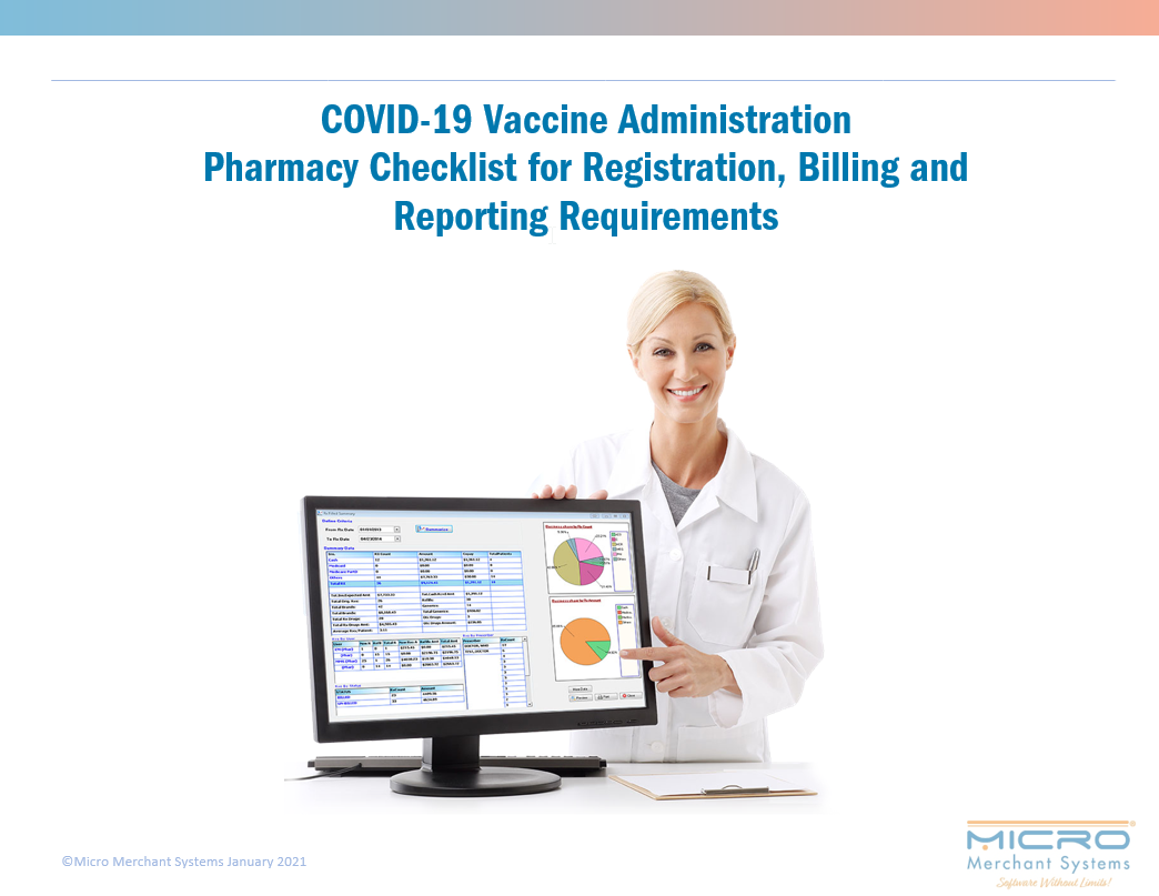 COVID-19 Vaccine Administration Pharmacy Checklist for Registration, Billing and Reporting Requirements